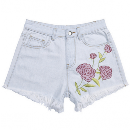 Summer Fashion Roses Embroider Cowb..