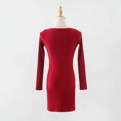 Long sleeved dress for women's autu..