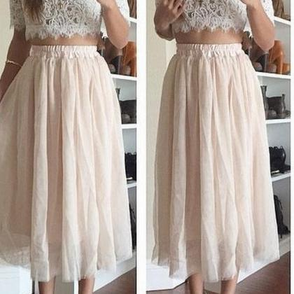 on sale HOT LACE TOP WITH SKIRT TWO..