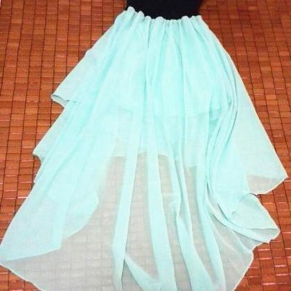 HOT STRAPLESS MINT GREEN DRESS
