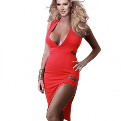 Fashion sexy slim bandage dress