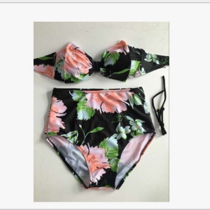FASHION BOW TWO PIECE FLORAL BIKINI..