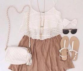 FASHION SOLID COLOR SUSPENDERS DRESS