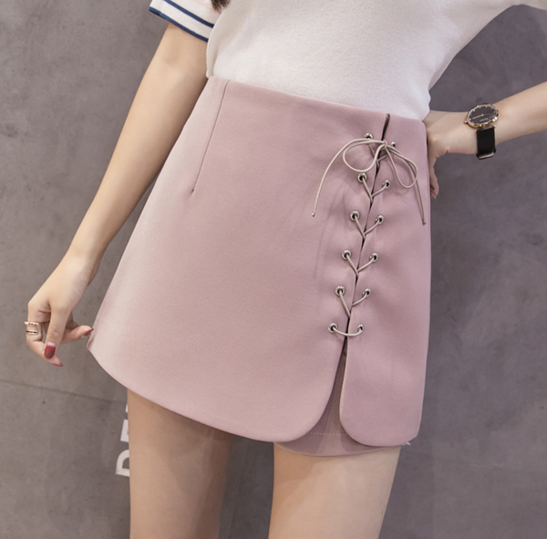 Fashion Small fresh with cultivate one's morality show thin divided irregular skirts