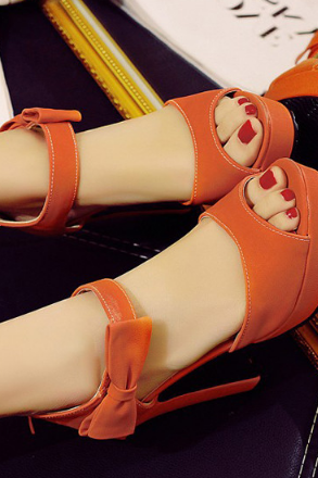FASHION BOW HIGH HEEL SHOES