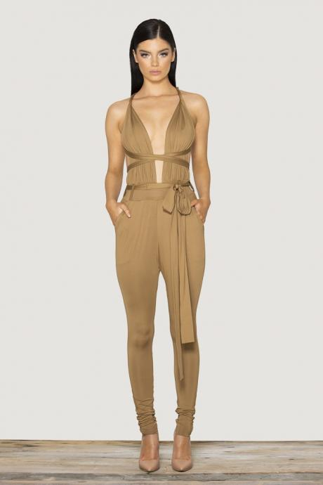 HOT DEEP V SEXY SHOW BODY JUMPSUIT