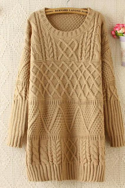 CUTE LONG SWEATER DRESS
