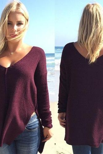 CUTE DEEP V SWEATER