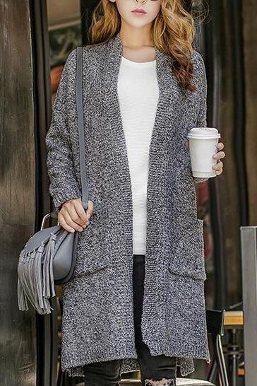 FASHION GREY CARDIGAN HIGH QUALITY