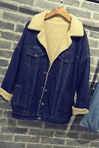 FASHION JEANS WARM COAT