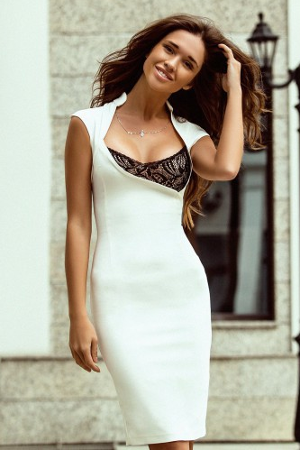 SEXY WHITE COLLAR DRESS