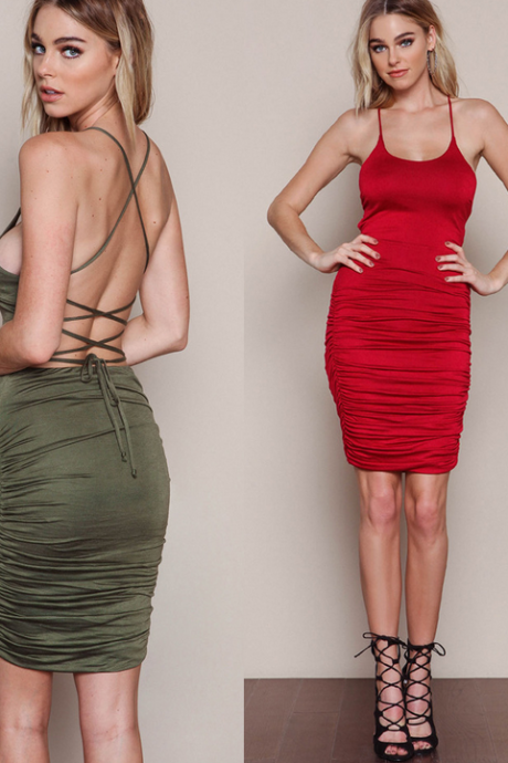 FASHION BACKLESS TWIST DRESS