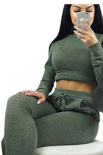 CUTE GREEN FASHION SWEATER JUMPSUIT