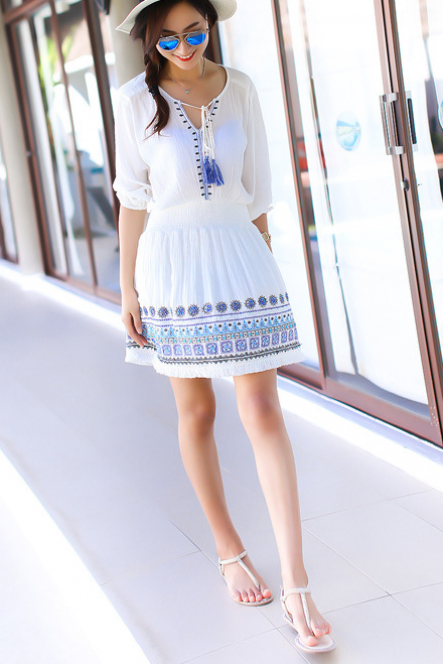 FASHION Classy embroidery dress