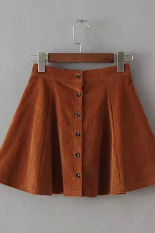 Button Front Skaters Skirt