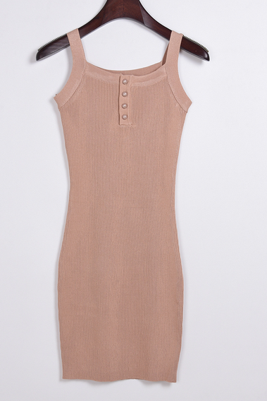 CUTE WOVEN STRAPS SHOW BODY DRESS