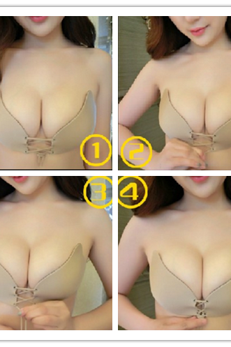 Super silicone invisible bra gather chest paste wedding dress strapless underwear milk paste swim