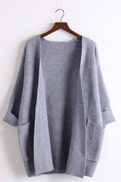 The new v-necked bat sleeve knit cardigan sweater