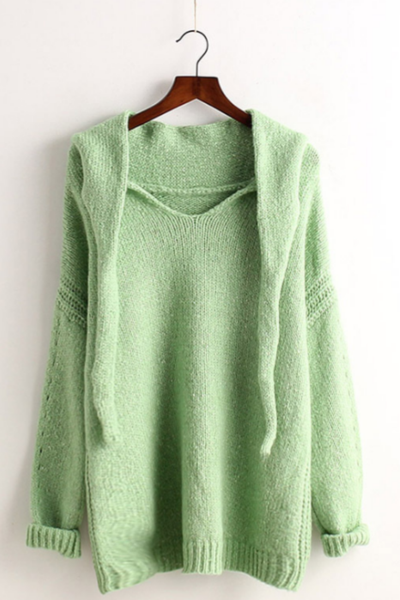 The new Loose Long Sleeve Style Loose Pullover