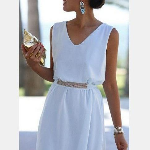 CUTE CHIFFON VEST DRESS