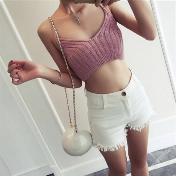 New fashion sexy female thread sweater knit V-neck vest harness tidal