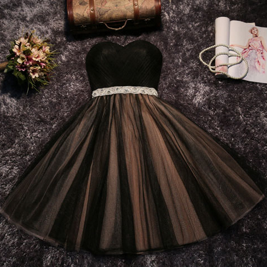 The new party dress short bridesmaid dress skirt bra grey skirt dress female sisters toast in spring and summer homecoming dress black