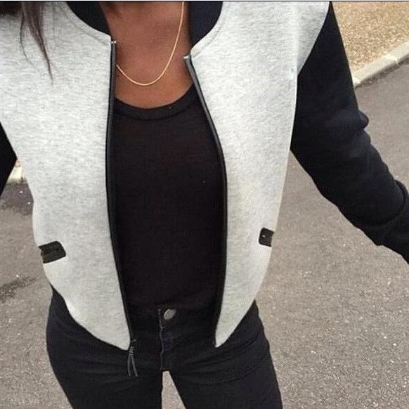 Fashion Women Zip Cardigan Jacket Coat